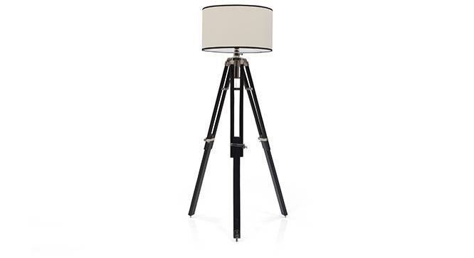 Hubble Tripod Floor Lamp (Black Base Finish, Cylindrical Shade Shape, White Shade Color) by Urban Ladder - Front View Design 1 - 300600
