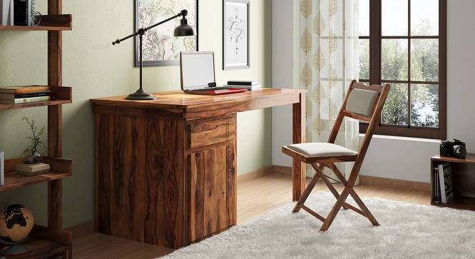 Bradbury Desk (Teak Finish, Large Size) by Urban Ladder - Full View Design 1 - 300639