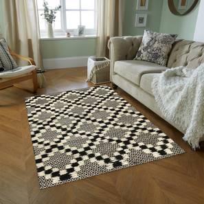"Ivara Carpet (Black, 122 x 183 cm  (48"" x 72"") Carpet Size) by Urban Ladder - Design 1 - 300674"