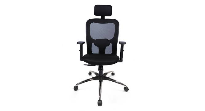 Edmund Study Chair (Black, Beta Chair Base) by Urban Ladder - Front View Design 1 - 300759