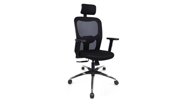 Edmund Study Chair (Black, Beta Chair Base) by Urban Ladder - Cross View Design 1 - 300760