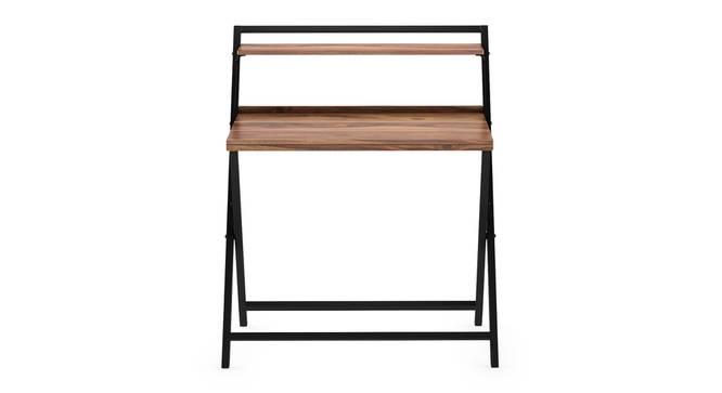 Bruno - Cohen Study Set (Teak Finish, Black) by Urban Ladder - Front View Design 1 - 300806
