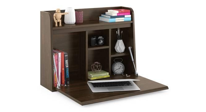 Grisham Wall Mounted Study Table (Californian Walnut Finish) by Urban Ladder - Design 1 Full View - 300825