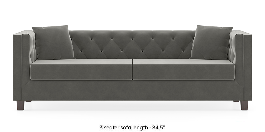 Windsor Sofa (Ash Grey Velvet) by Urban Ladder - -