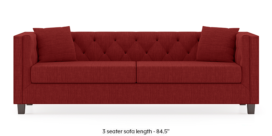 Windsor Sofa (Salsa Red) by Urban Ladder - -