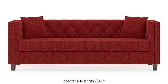 Windsor Sofa (Salsa Red) (1-seater Custom Set - Sofas, None Standard Set - Sofas, Fabric Sofa Material, Regular Sofa Size, Regular Sofa Type, Salsa Red)