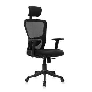 Galen Study Chair (Black) by Urban Ladder - Design 1 Full View - 301389