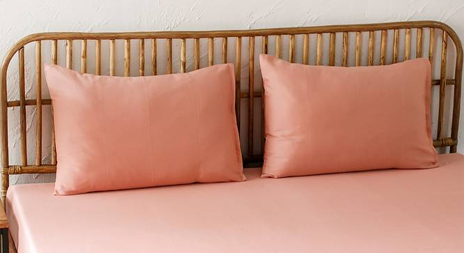 Aadoo Bedsheet Set (Pink, Double Size) by Urban Ladder - Design 1 Full View - 301528