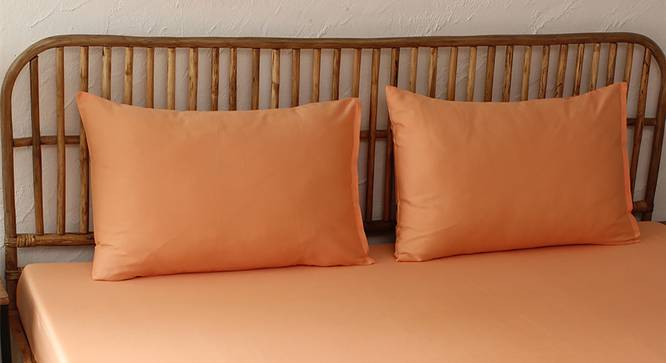Coral Bedsheet Set (Orange, Fitted Size) by Urban Ladder - Design 1 Full View - 301608