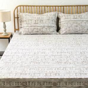 Sanchi Bedsheet Set (Grey, King Size) by Urban Ladder - Design 1 Full View - 301759