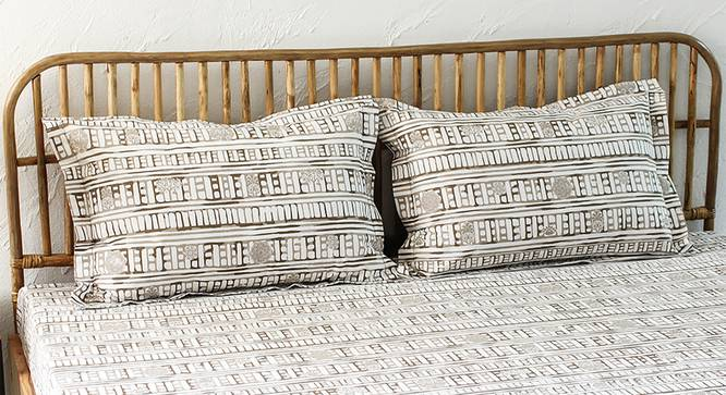 Sanchi Bedsheet Set (Grey, King Size) by Urban Ladder - Design 1 Full View - 301759