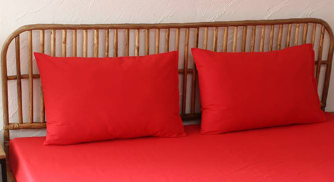 Surkh Bedsheet Set (Red, Double Size) by Urban Ladder - Design 1 Full View - 301784