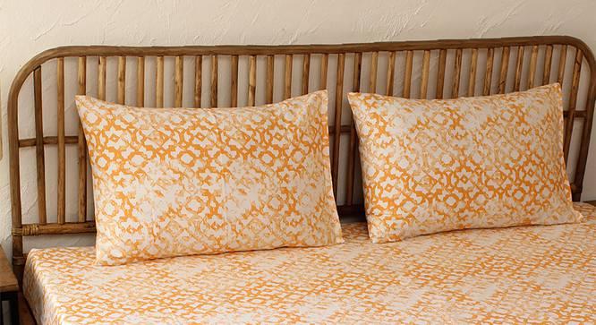 Rough Ogee Bedseet Set (Orange, Single Size) by Urban Ladder - Design 1 Full View - 301805