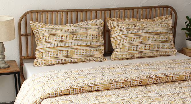 Sanchi Dohar (Yellow, Single Size) by Urban Ladder - Design 1 Full View - 301881