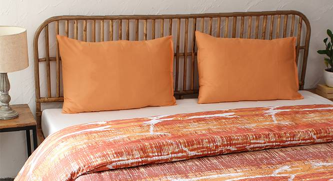 Betka Duvet (Orange, Single Size) by Urban Ladder - Design 1 Full View - 301905