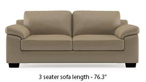 Esquel Leatherette Sofa (Cappuccino)