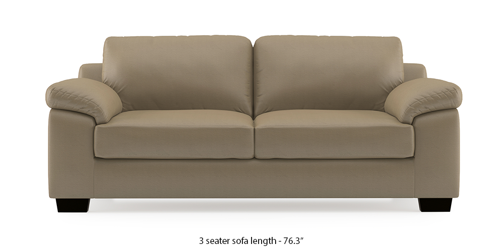 Esquel Leatherette Sofa (Cappuccino) (1-seater Custom Set - Sofas, None Standard Set - Sofas, Cappuccino, Leatherette Sofa Material, Regular Sofa Size, Regular Sofa Type) by Urban Ladder - - 302010