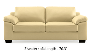Esquel Leatherette Sofa (Cream)