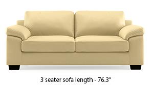 Esquel Leatherette Sofa (Cream)