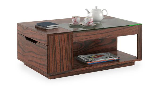 Ludwig Coffee Table (Wine Finish) by Urban Ladder - Design 1 Full View - 302066