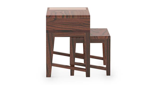 Leeds Nested Table (Wine Finish) by Urban Ladder - Front View Design 1 - 302086