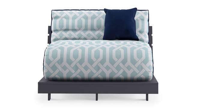 Finn Futon Sofa Cum Bed (Midnight Blue) by Urban Ladder - Front View Design 1 - 302108