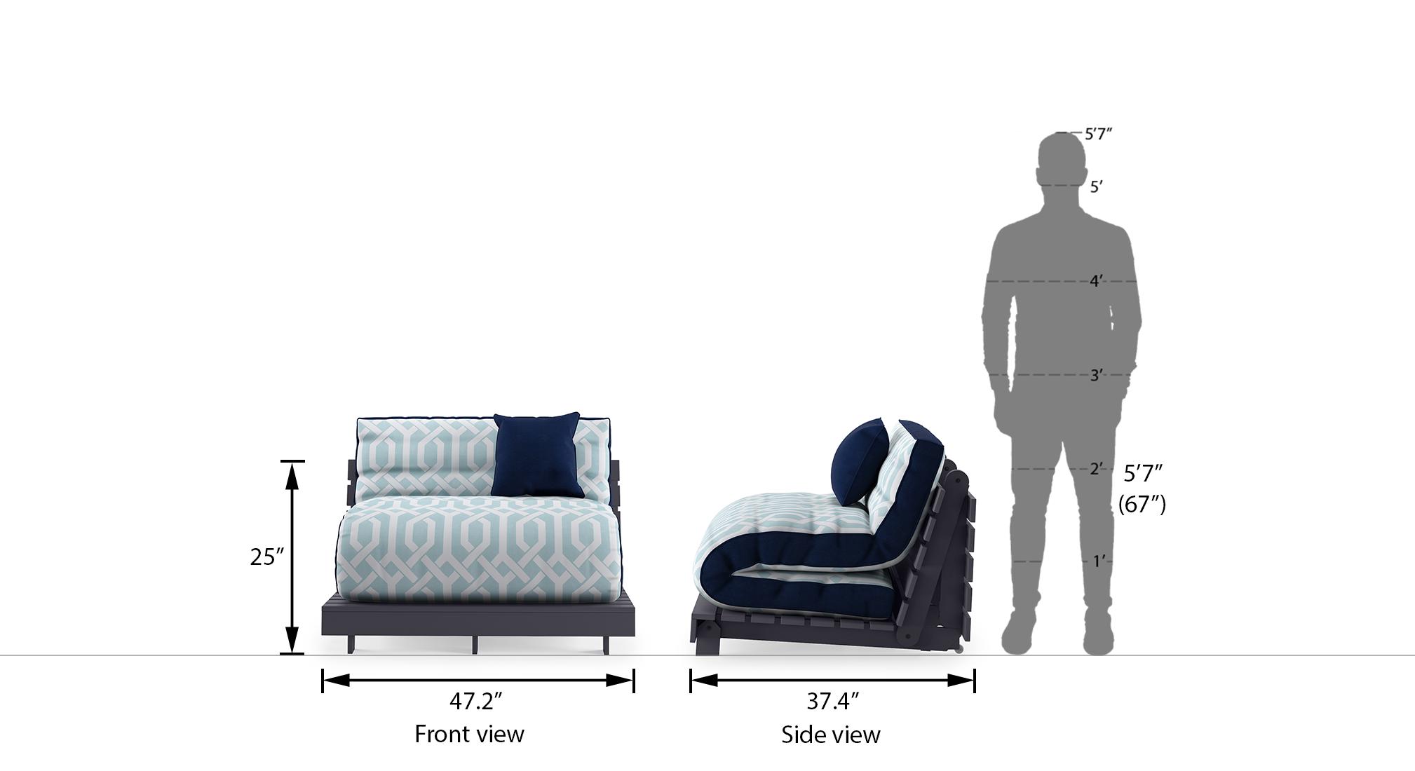 Finn futon sofa bed midnight blue 21