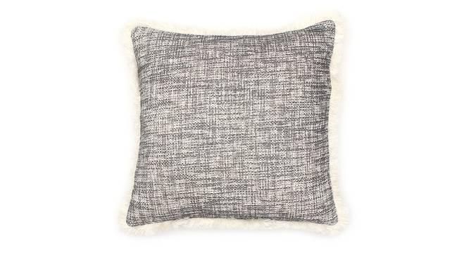 "Matsya Vala Cushion Cover (Black, 41 x 41 cm  (16"" X 16"") Cushion Size) by Urban Ladder - Front View Design 1 - 302131"