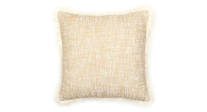 "Matsya Vala Cushion Cover (Beige, 41 x 41 cm  (16"" X 16"") Cushion Size) by Urban Ladder - Front View Design 1 - 302134"