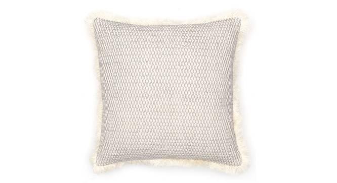 "Akasam Cushion Cover (Grey, 41 x 41 cm  (16"" X 16"") Cushion Size) by Urban Ladder - Front View Design 1 - 302143"
