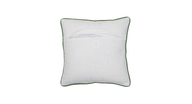 "Kumarakom Cushion Cover (Green, 41 x 41 cm  (16"" X 16"") Cushion Size) by Urban Ladder - Rear View Design 1 - 302148"