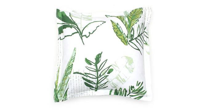 "Vanam Cushion Cover (Green, 41 x 41 cm  (16"" X 16"") Cushion Size) by Urban Ladder - Front View Design 1 - 302156"