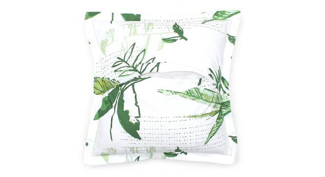 """Vanam Cushion Cover (Green, 41 x 41 cm  (16"""" X 16"""") Cushion Size) by Urban Ladder - Rear View Design 1 - 302157"""
