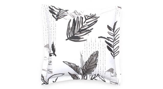 "Vanam Cushion Cover (Grey, 41 x 41 cm  (16"" X 16"") Cushion Size) by Urban Ladder - Front View Design 1 - 302159"