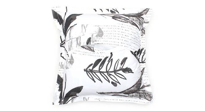 "Vanam Cushion Cover (Grey, 41 x 41 cm  (16"" X 16"") Cushion Size) by Urban Ladder - Rear View Design 1 - 302160"