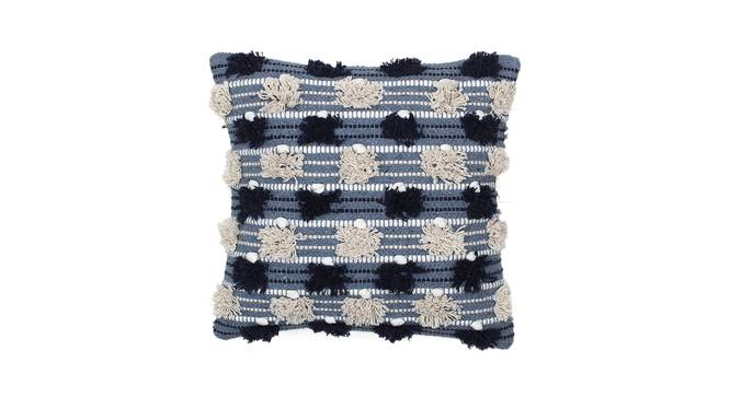 """Reshe Cushion Cover (Blue, 41 x 41 cm  (16"""" X 16"""") Cushion Size) by Urban Ladder - Front View Design 1 - 302183"""
