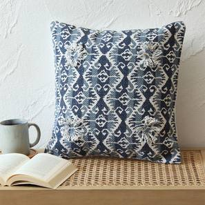 "Choktha Cushion Cover (Blue, 41 x 41 cm  (16"" X 16"") Cushion Size) by Urban Ladder - Front View Design 1 - 302192"