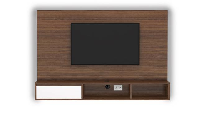 Iwaki Swivel TV Unit (Walnut Finish, Wall Mounted Unit) by Urban Ladder - Front View Design 1 - 302232