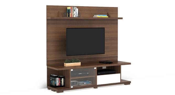 Iwaki Swivel TV Unit (Walnut Finish, Floor Standing Unit) by Urban Ladder - Front View Design 1 - 302254