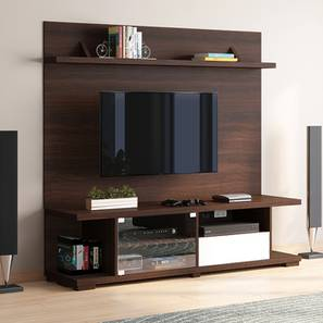 Iwaki Swivel TV Unit (Dark Walnut Finish, Floor Standing Unit) by Urban Ladder - Design 1 Full View - 302262
