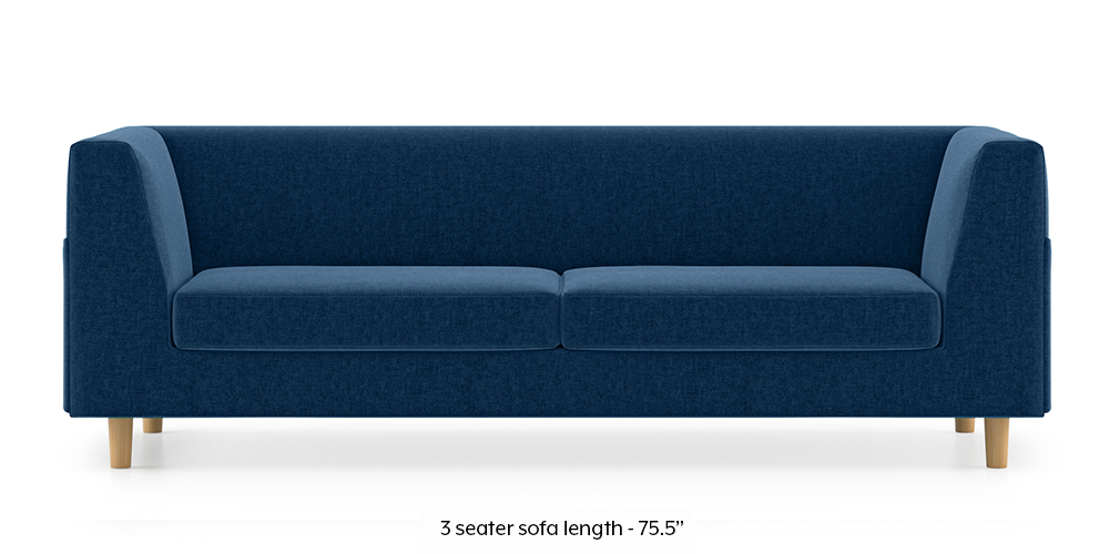 Rubik Sofa (Cobalt Blue) (1-seater Custom Set - Sofas, None Standard Set - Sofas, Cobalt, Fabric Sofa Material, Regular Sofa Size, Regular Sofa Type) by Urban Ladder - -