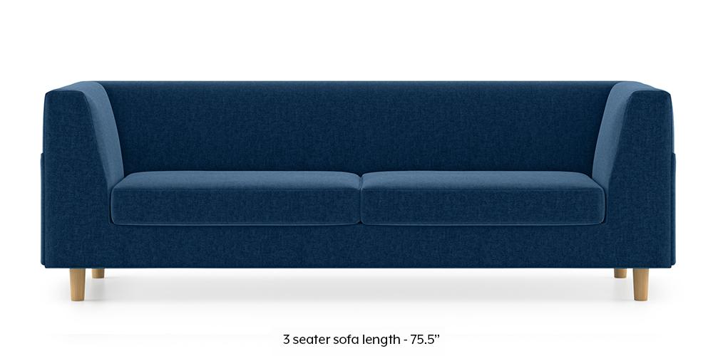 Rubik Sofa (Cobalt Blue) (1-seater Custom Set - Sofas, None Standard Set - Sofas, Cobalt, Fabric Sofa Material, Regular Sofa Size, Regular Sofa Type) by Urban Ladder - -