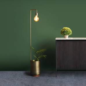 Esna Floor Lamp With Bowl (Antique Brass Finish) by Urban Ladder - Design 1 Full View - 302321