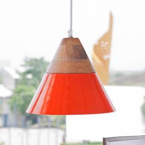 Maverick Hanging Lamp (Orange Finish) by Urban Ladder - Design 1 Full View - 302349