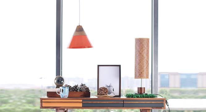 Maverick Hanging Lamp (Orange Finish) by Urban Ladder - Front View Design 1 - 302350