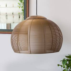 Tappa Hanging Lamp (Gold Finish, Spherical Shape) by Urban Ladder - Design 1 Full View - 302382
