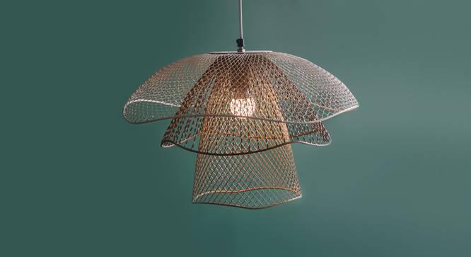 Mallawi Hanging Lamp (Beige Finish, Medium Size) by Urban Ladder - Design 1 Full View - 302400