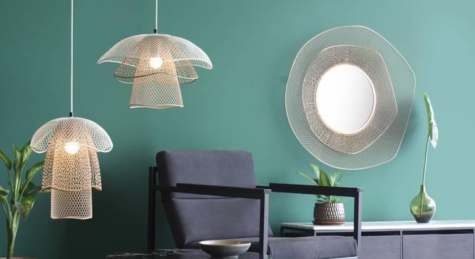 Mallawi Hanging Lamp (Beige Finish, Medium Size) by Urban Ladder - Front View Design 1 - 302401