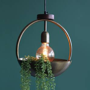 Esna Hanging Lamp With Bowl (Antique Brass Finish, Medium Size) by Urban Ladder - Design 1 Full View - 302410