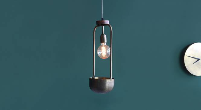 Esna Hanging Lamp With Bowl (Antique Brass Finish, Tall Size) by Urban Ladder - Design 1 Full View - 302415